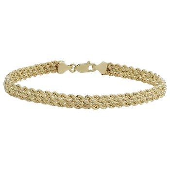10kt Rope Style Bracelet