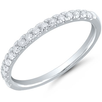 Lady's 14k White Gold Diamond Band