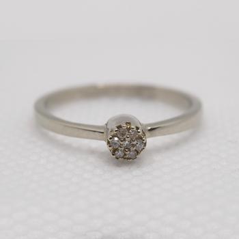 10KT White Gold 0.07tw Diamond Ring