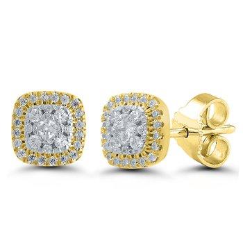 14kt Yellow Gold Diamond Earings