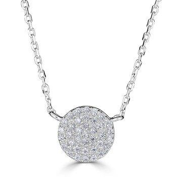 14KT White Gold 0.20tw Diamond Full Circle Necklace