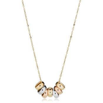 10kt Tri Coloured Necklace