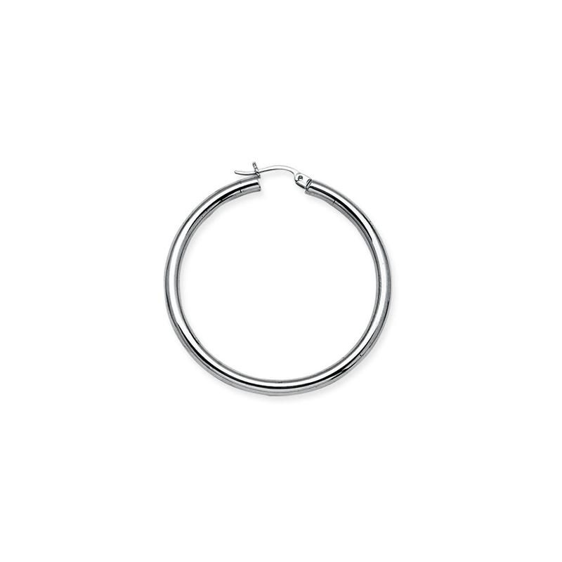 Best Sellers Sterling Silver/Rhodium Plated 35mm Hoop Earrings