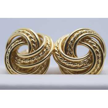 14KT yellow gold Knot Stud Earrings