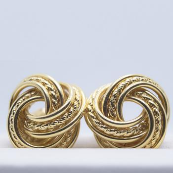 14KT yellow gold Knot Stud Earrings