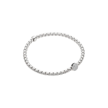 18k White Gold and Diamond Pave Flex'it Bracelet