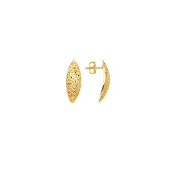 14KT Yellow Gold Marquise Stud Earrings