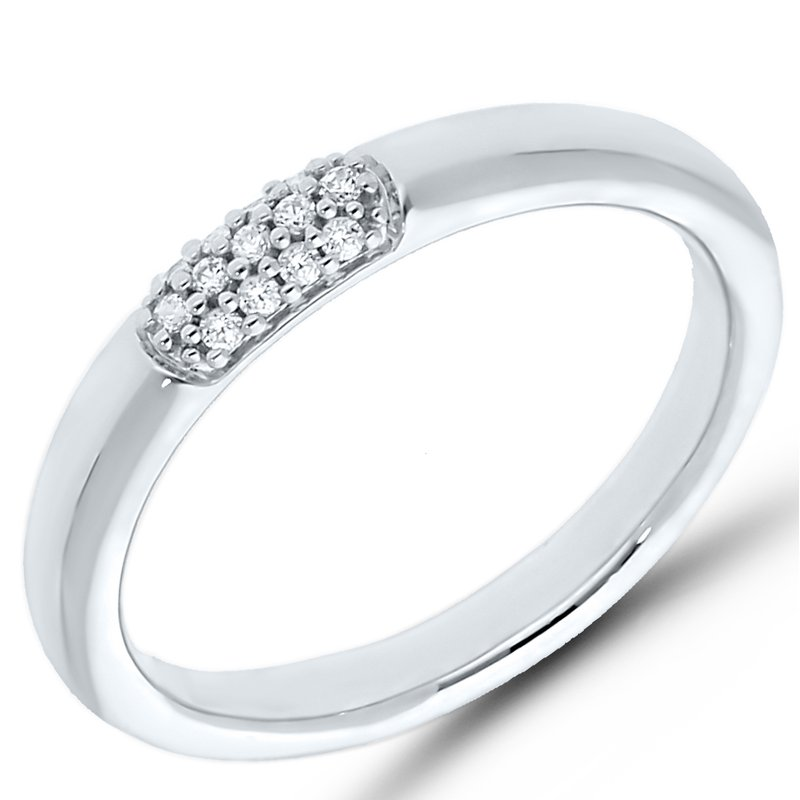 Best Sellers Lady's Sterling Silver Diamond Ring