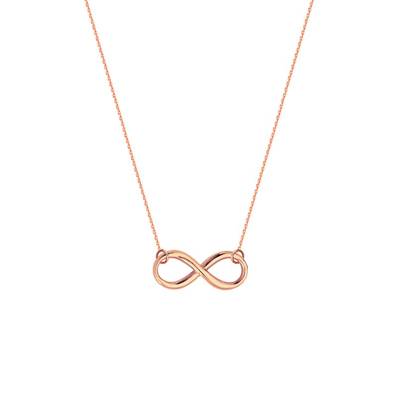 Best Sellers Lady's Sterling Silver/Rose Gold Plated Infinity Necklace