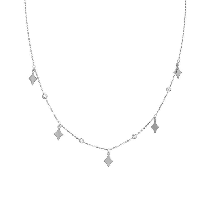 Best Sellers Lady's Sterling Silver CZ Necklace