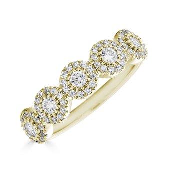 14KT Yellow Gold 0.50tw Diamond Multi 'Halo' Ring