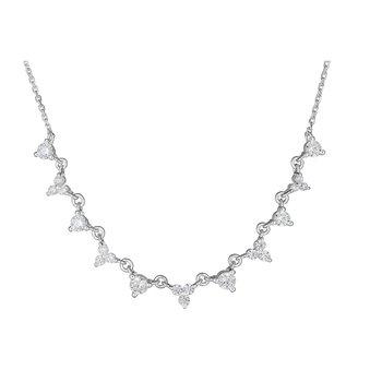 14KT White Gold 0.55tw Diamond Graduated Necklace