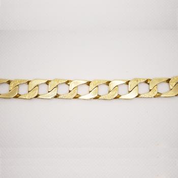 """10KT Yellow Gold 9.5"""" Fancy Curb Bracelet"""