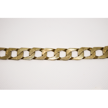 "10KT Yellow Gold 9.5"" Fancy Curb Bracelet"