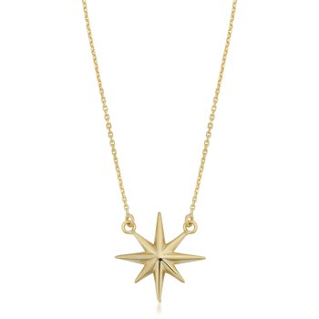 10kt North Star Necklace