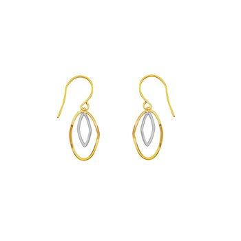 14kt Yellow/White Gold Drop Earrings