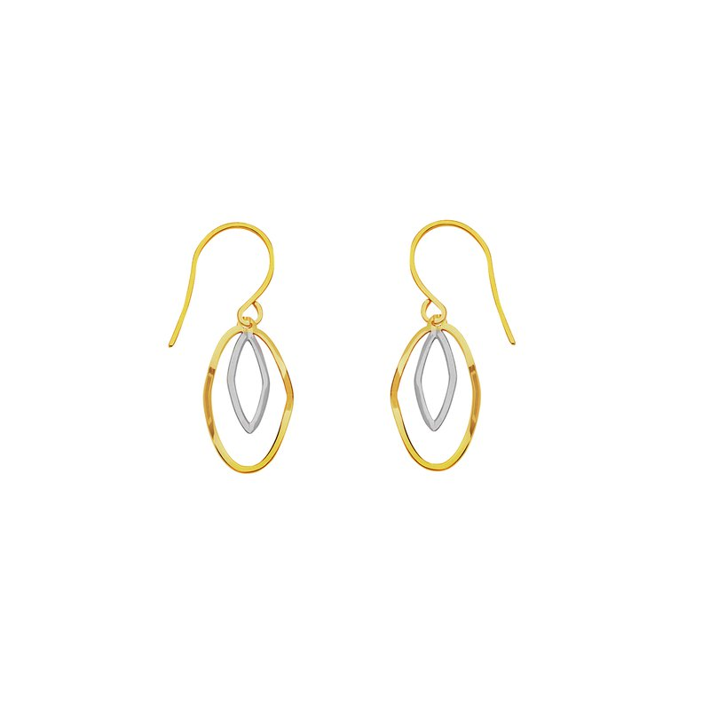 Best Sellers 14kt Yellow/White Gold Drop Earrings
