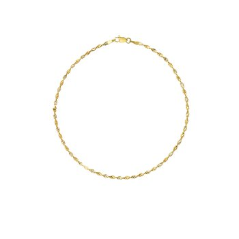 14kt Yellow & White Gold Anklet