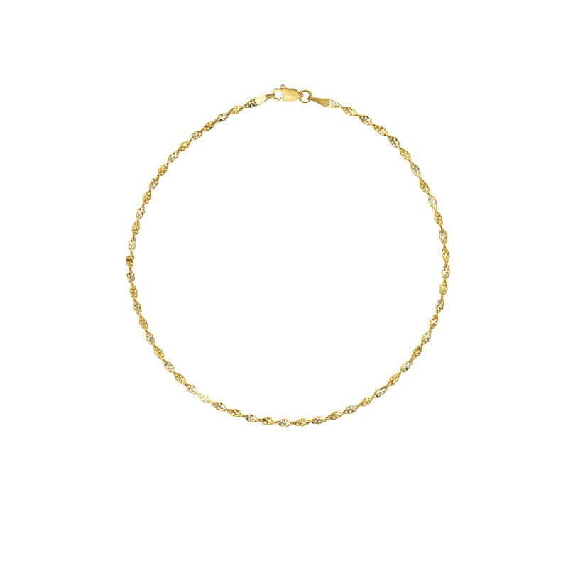 Best Sellers 14kt Yellow & White Gold Anklet