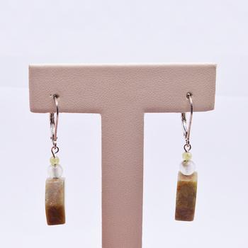 Sterling Silver Agate Drop Earrings