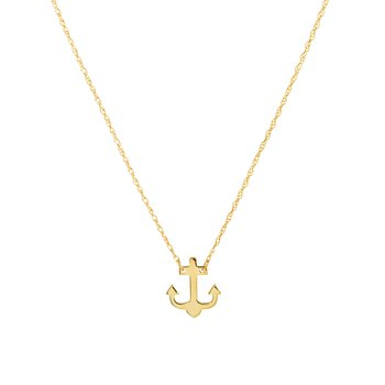 Lady's 14kt Yellow Gold Anchor Necklace