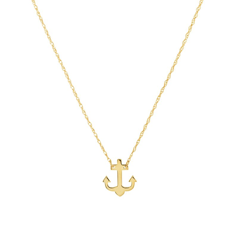 Best Sellers Lady's 14kt Yellow Gold Anchor Necklace