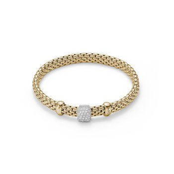 18k Yellow Gold and Diamond Pave Bracelet