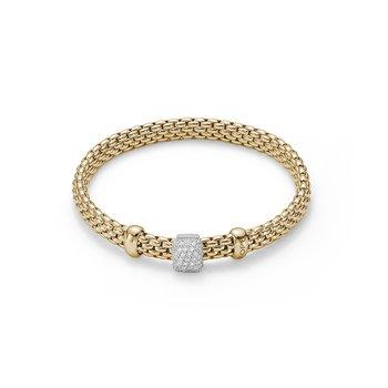 18k Yellow Gold and Diamond Pave Bracelet