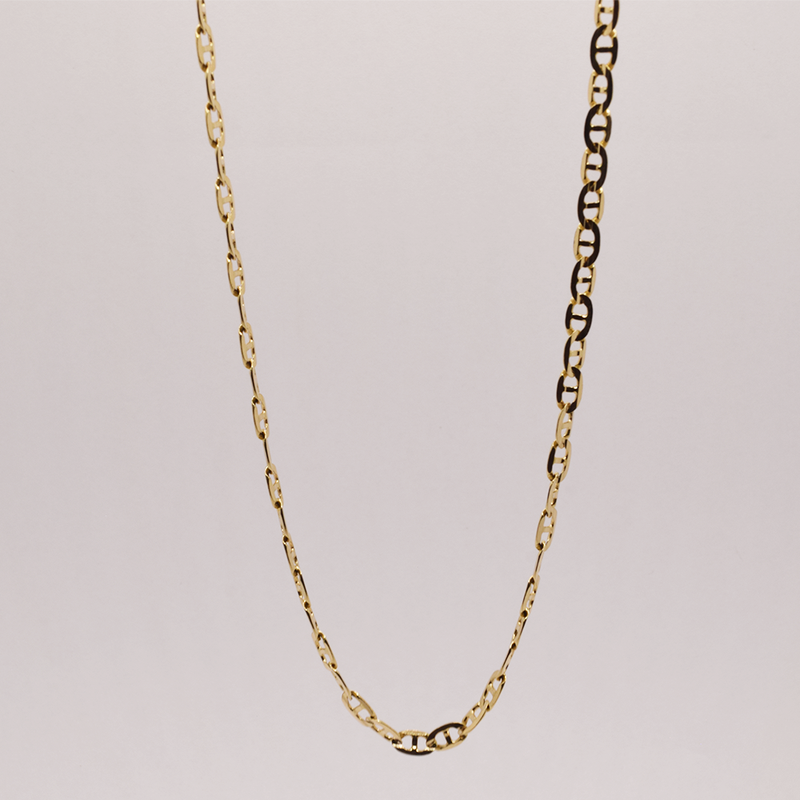 """Estate 19"""" 10KT Yellow Gold Anchor Chain"""