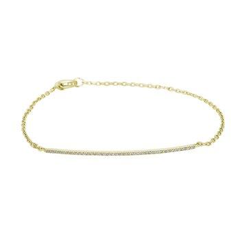 14KT White Gold 0.10tw Diamond Bar Bracelet