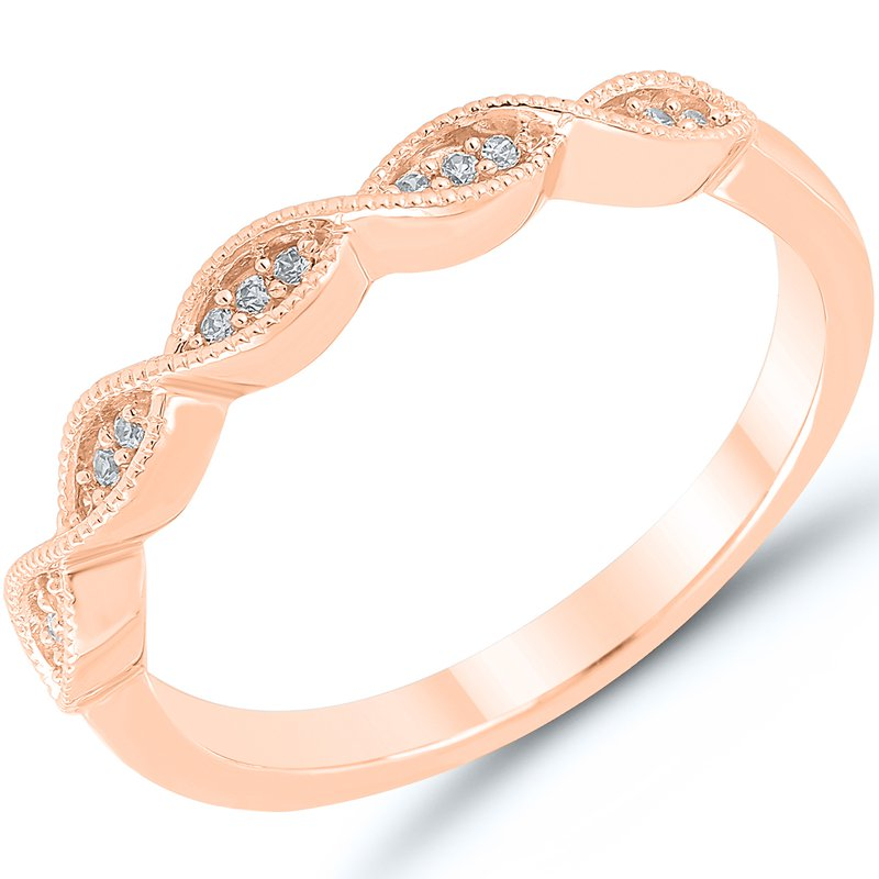 Lady's 10k Rose Gold Diamond Band