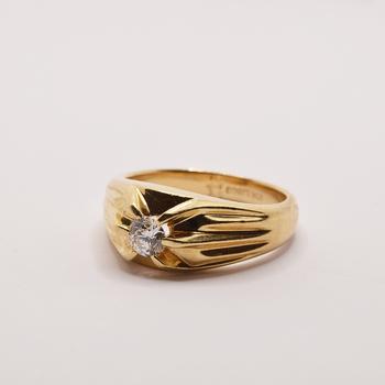 10KT Yellow Gold 0.40ct Diamond Ring