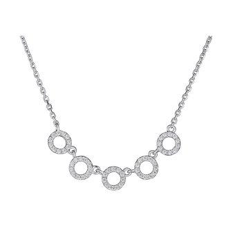 14KT White Gold 0.20tw Diamond 'O' Necklace