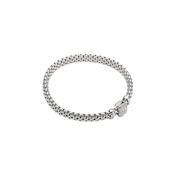 18k White Gold and Diamond Pave Flex'it Bracelet