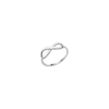 Sterling Silver/Rhodium Plated 'Infinity' Ring