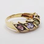 Estate 9KT Multi-Coloured Fancy Sapphire Ring