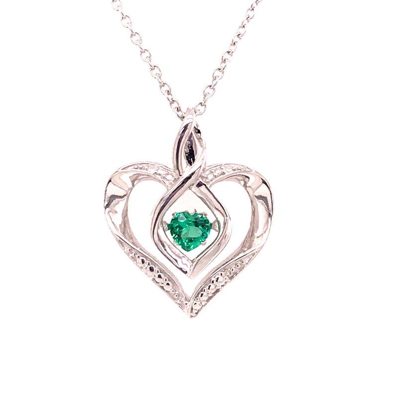 Colored Stone Fashion Created Emerald & Diamond Pendant
