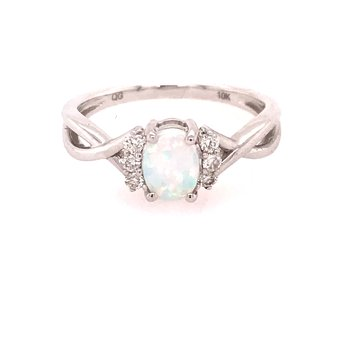 Created Opal Fashion Ring