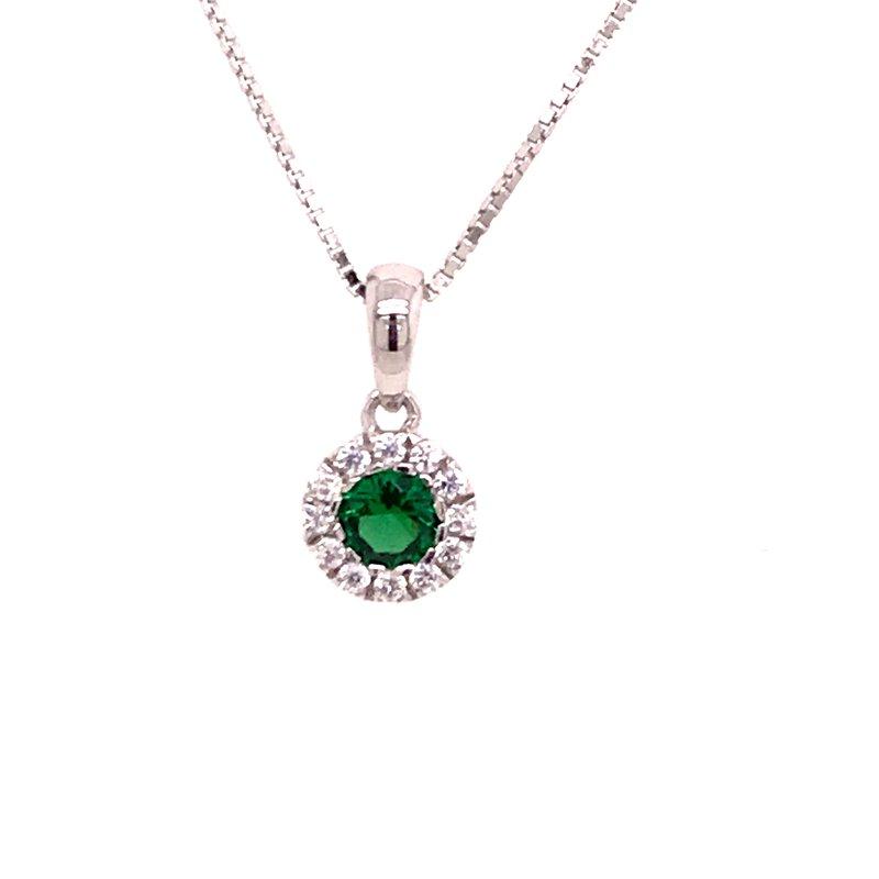 Colored Stone Fashion Created Emerald Pendant
