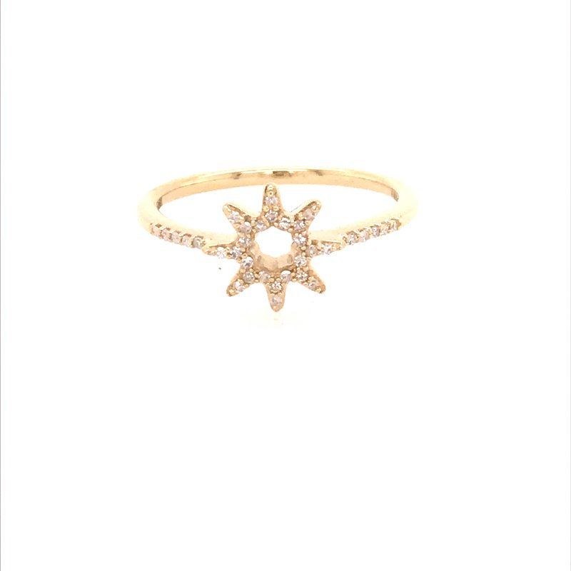 Diamond Fashion Star Ring