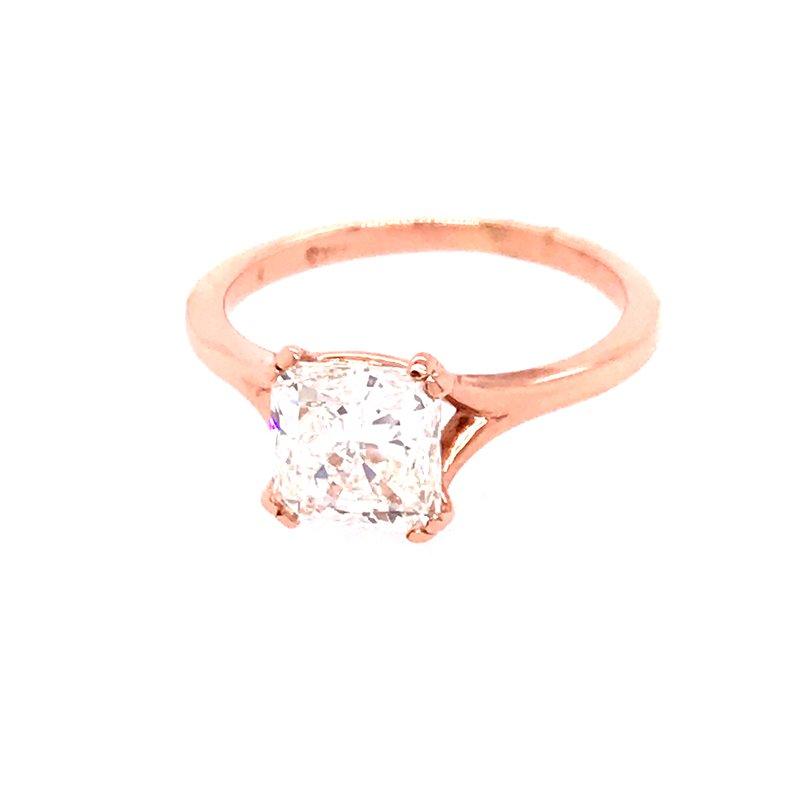 Dean's Signature Whistler Diamond Solitaire Engagement Ring