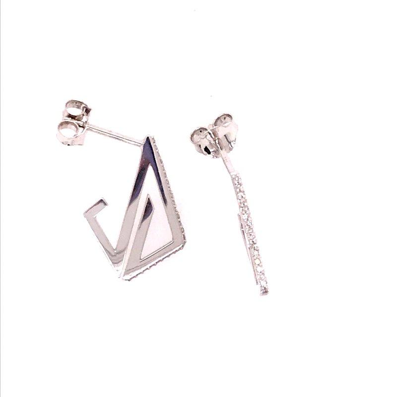 Diamond Fashion Triangle Earrings
