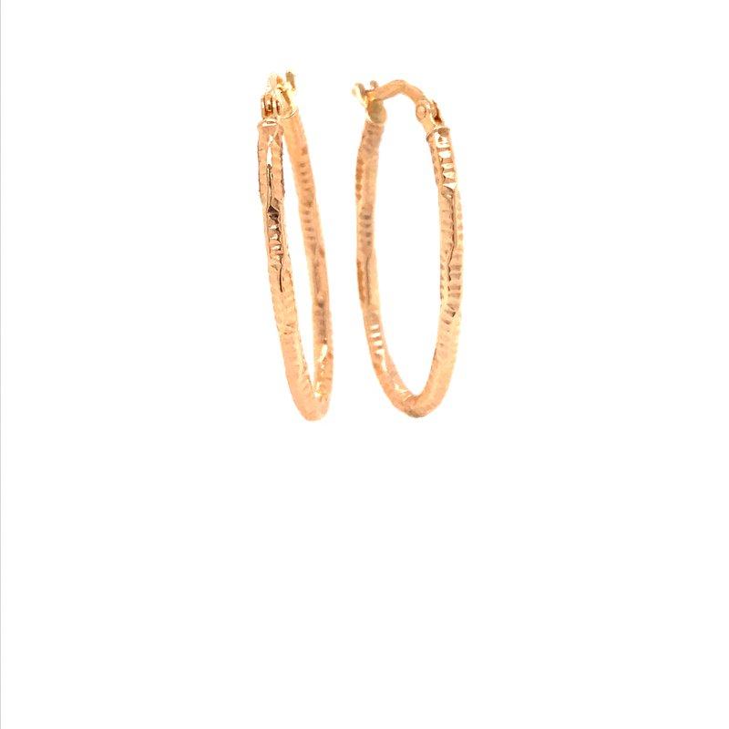 Gold Fashion Oval Hoop Earrings