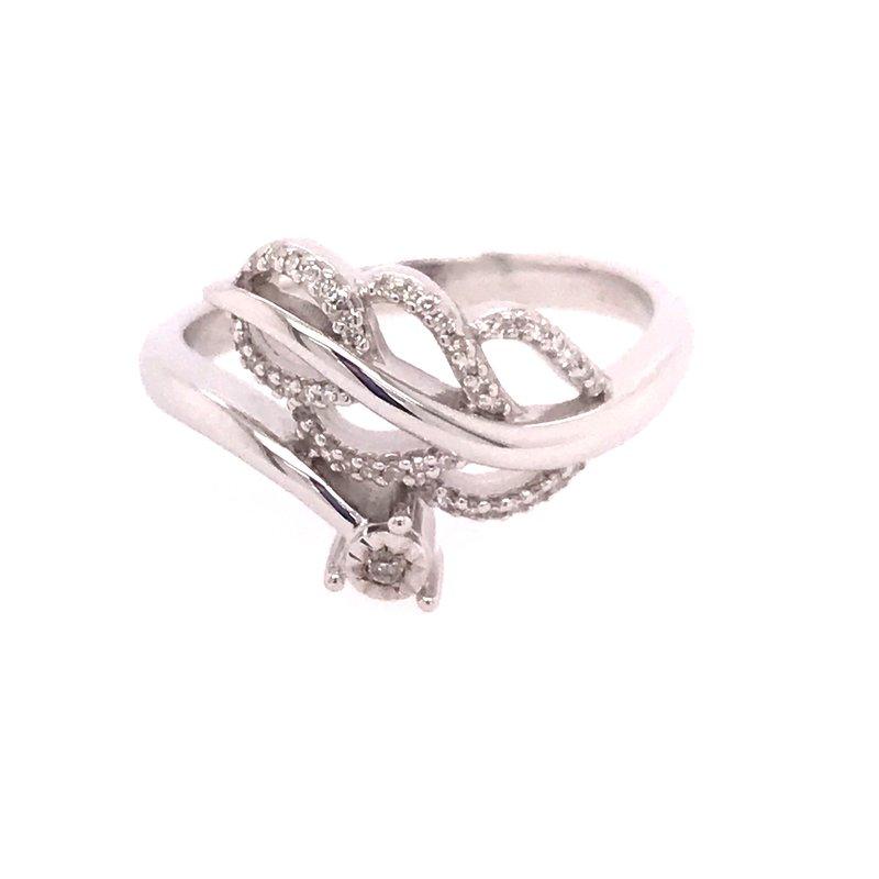 Diamond Fashion Leaf Ring