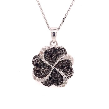 Black and White Diamond Fashion Pendant