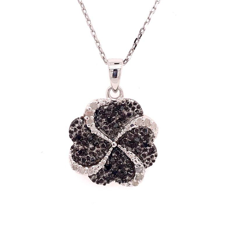 Diamond Fashion Black and White Diamond Fashion Pendant