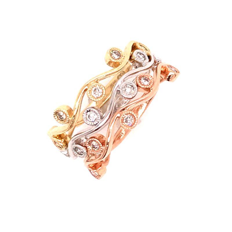 Diamond Fashion Three Stackable Rings