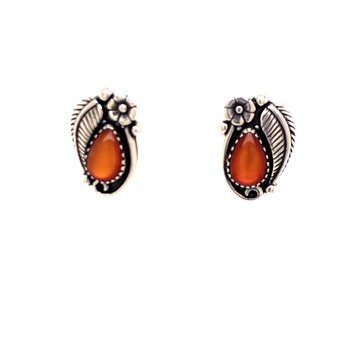 Orange Stone Fashion Earrings
