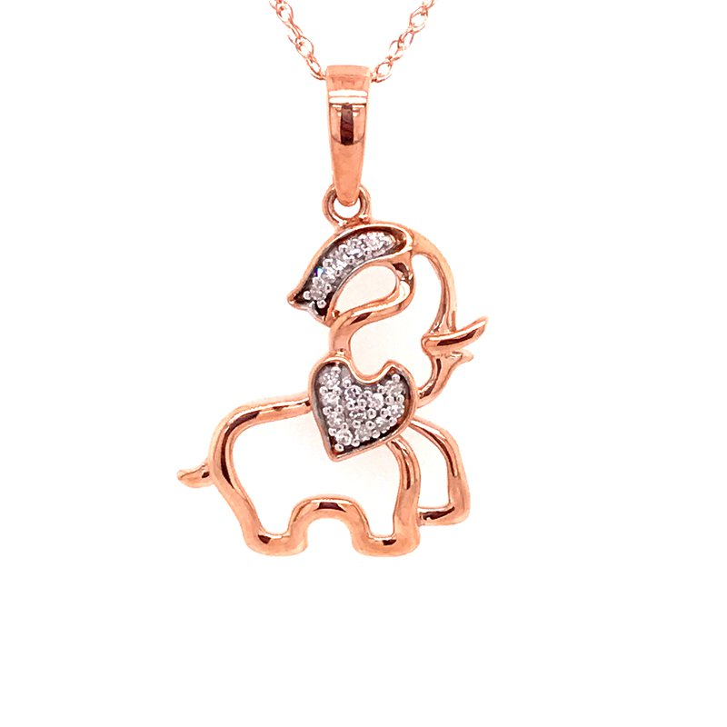 Diamond Fashion Elephant Pendant