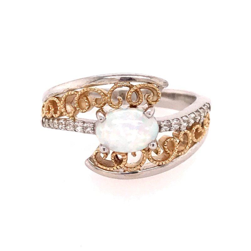 Colored Stone Fashion Created Opal Fashion Ring